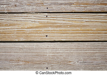 Sand on Old Beach Boards - Old sandy beach planks for...