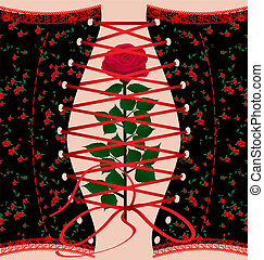 corset and rose