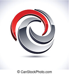 Abstract 3d swirl icon. - Abstract modern 3d swirl logo....