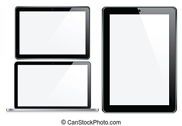 Modern electronic devices - Vector Concepts of tablet and...