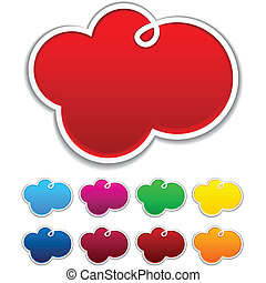 Cloudscape notification paper shapes - Vector illustration...