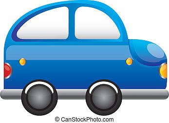 blue car cartoon vector over white background illustration
