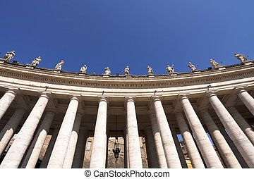 Statues of saints in the colonnade, Vatican
