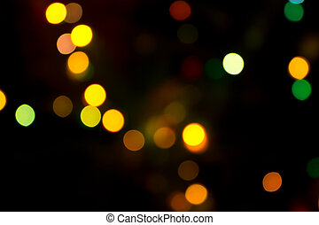 abstract of bokeh