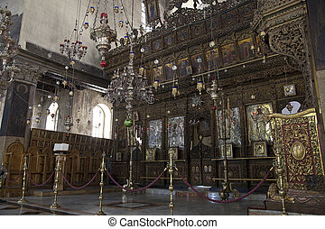Interior of church of the Nativity - Very rare photos....