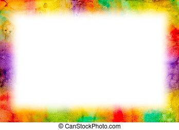 grunge, aquarela, Quadro