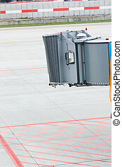 Vacant Airplane Jetway - A jetway ready to receive...