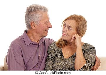 elderly couple portrait