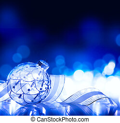 art christmas decoration on blue background - christmas...