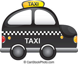 taxi vector - black taxi cartoon with tranparency vector...