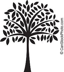 abstract tree - black abstract tree over white background...