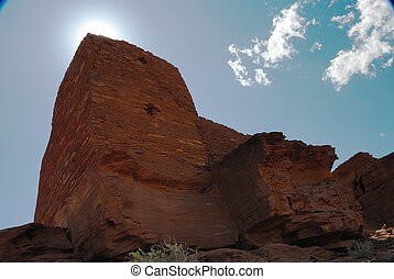 Wukoki Pueblo 4053 - Wukoki is visible for many miles, and...