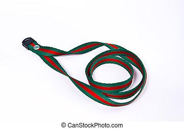 neck strap lanyard isolated