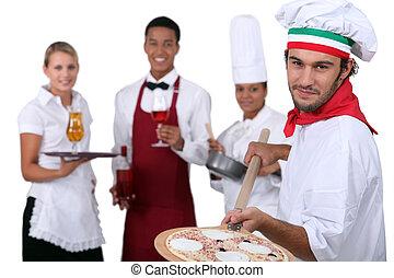 garçons, cozinheiros