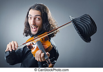 Fiddler playing the violin