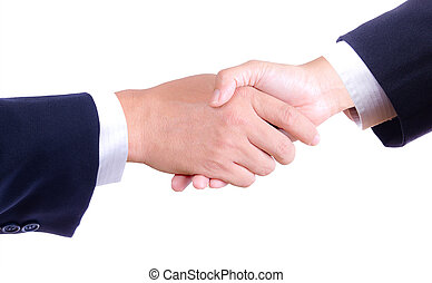 business hand shaking isolated