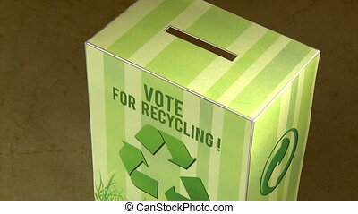 Vote for recycle. High angle. - Vote for recycle. Ecology...