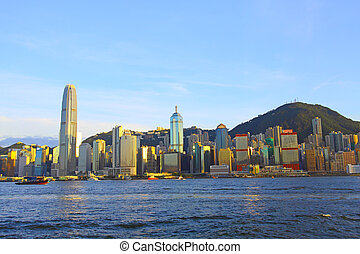 Hong Kong downtown at day time