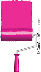 Vector illustration of pink paint r