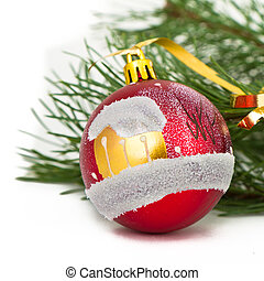 Christmas decoration on Christmas tree