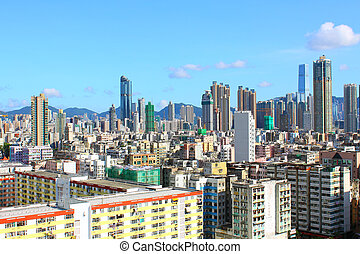 Hong Kong downtown at day time