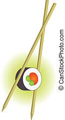 sushi - Vector illustration of sushi