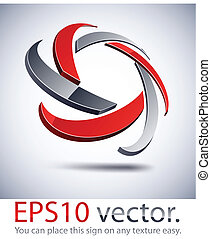 3D modern star logo icon. - Vector illustration of 3D star...