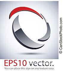 3D, modernos, logotipo, ícone