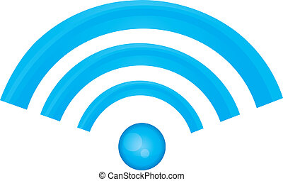 rss icon - blue rss icon isolated over white background...