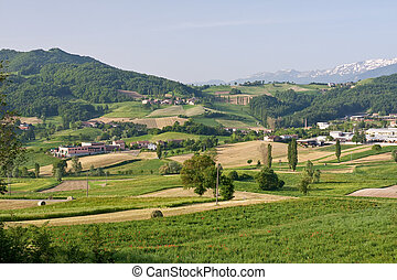 Typical Tuscan landscape - typical landscape in Italian...