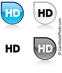 HD button. - HD glossy drop vibrant buttons.