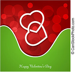 background for Valentines Day - vector festive background...
