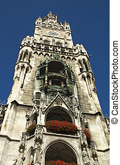 Marienplatz - The Neues Rathaus new city town hall...