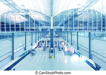 Hong Kong International Airport, one of the busiest airport...