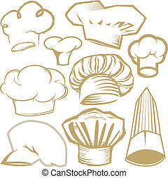 Chef Hat Collection - Clip art collection of chef hat icons...