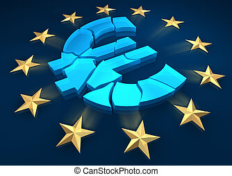 Eurozone - Disintegration of the eurozone Gold stars are...