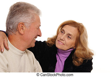 old couple portrait