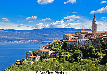 Adriatic Town of Vrbnik , Island of Krk - Adriatic Town of...