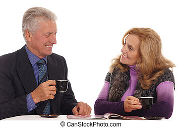 old people at table