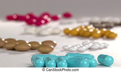Colorful pills - Colorful pills, healthcare and medicine...