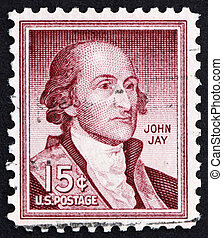 Postage stamp USA 1954 John Jay - UNITED STATES OF AMERICA -...