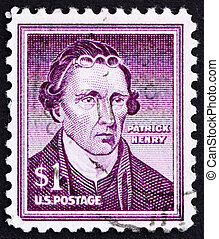 Postage stamp USA 1954 Patrick Henry - UNITED STATES OF...