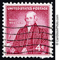 Postage stamp USA 1958 Noah Webster - UNITED STATES OF...