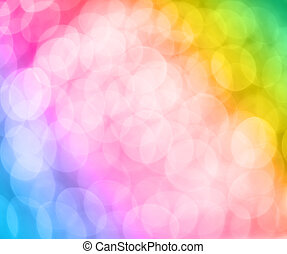 Abstract lights background - Abstract soft rainbow colored...