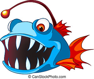 Cartoon Character Fish Isolated on White Background Vector