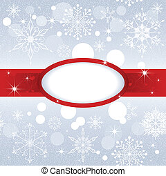 Christmas snowflake on sliver color background
