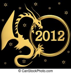 New 2012 year - Background for new 2012 year