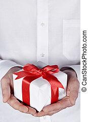 navidad, regalo, Dar