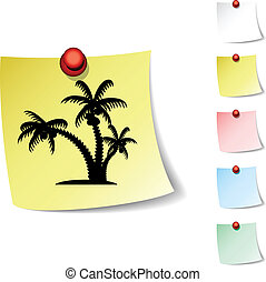 tropical icon - tropical sheet icon Vector illustration...