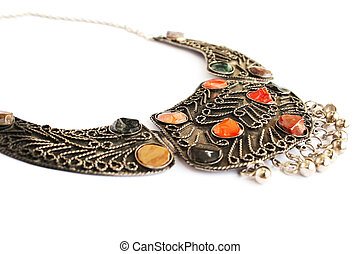 Necklace - Armenian ancient style necklace with natural...